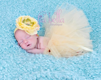 TUTU SKIRT...Yellow Tutu Skirt...Newborn Tutu...Baby Tutu...Toddler Tutu...Cakesmash Tutu...Birthday Tutu...Summer Dress