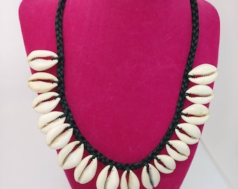Kauri Shell necklace handmade in Ghana