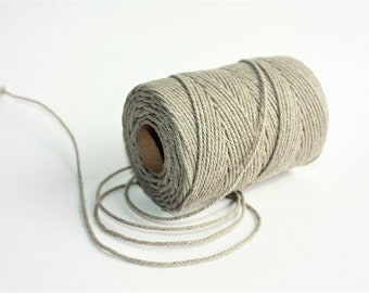 2 mm of Elegant Linen Rope - Natural Color = 1 Spool = 110 Yards = 100 Meters