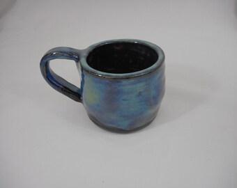 Variegated Stoneware Ceramic Mug, Handmade Pottery, Hand Painted, Hand Thrown, Drinkware, Coffee, Tea, Cup, Gift (C0024)