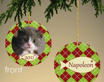 Personalized Cat Photo Ornament