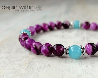 Amplify Your Intuition Sugilite Bracelet | Healing Crystal Bracelet, Gemstone Bracelet | Yoga Bracelet | Reiki Bracelet