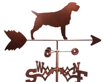 Hand Made Wirehaired Pointing Griffon Dog Weathervane NEW