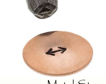 Double Arrow Jewelry Making Tool steel stamp for use with soft metals - Metal Design Stamp