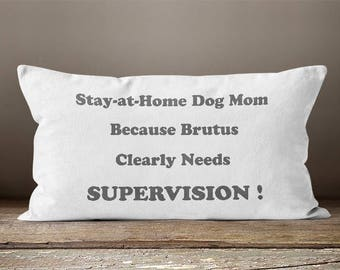 Stay at Home Dog Mom | Dog Mom |  Dog Lover | Dog Mom Gift | Pet Mom | Dog Decor | Animal Lover