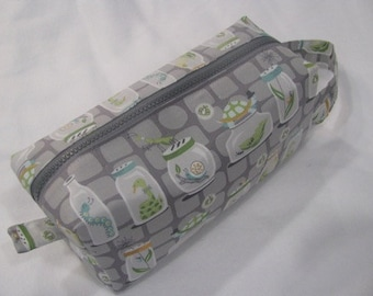 Bugs Under Inspection- Surprise embroidery inside Cosmetic Bag Makeup Bag LARGE