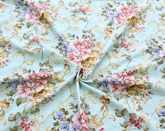 best quality control digital printed flower pattern baby jersey knit floral print fabric