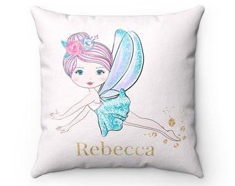 Fairy Nursery Decor, Fairy Pillow, Fairy Cushion, Fairy Decorative Pillow, Fairy Personalised Cushion, Personalised Cushion, Baby Gift, Pink