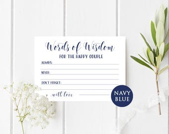 Wedding advice card Words Of wisdom bridal shower Advice for the happy couple cards Newlyweds advice Advice for bride and groom DIY sign