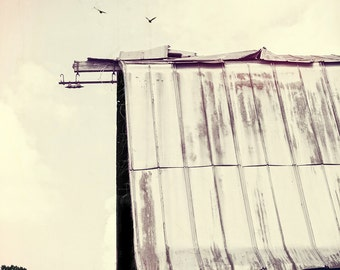 The Barn on the Hill : archival quality fine art photography, horizontal format, landscape, farm life