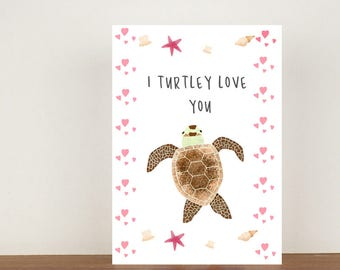 I Turtle Love You Card, anniversary card, cards, greeting cards, love, valentines card, Turtle card, turtle