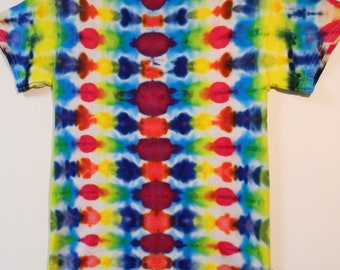 Adult Small Ice Dye Tie Dye Short Sleeved T-shirt