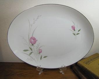 Vintage Sterling Rose Diamond China Serving Platter