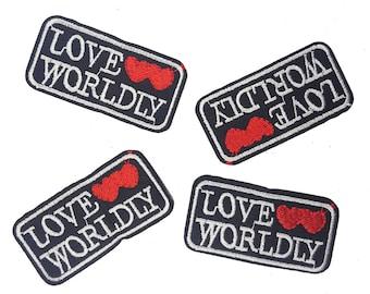2 PCS Iron On Words Patch Applique, Love Wordly Patch Applique