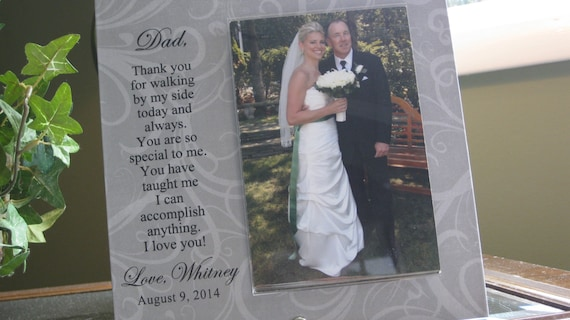 Father of Bride Wedding Gift, Father Daughter wedding gift, Father ...