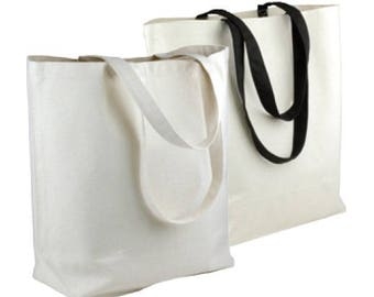 "Canvas Tote Bag 18"" x 15"" x 5-3/4"""