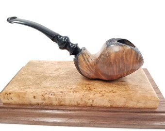 Includes free pipe kit retail value 30.00, Freehand tobacco pipe, smoking pipe, handmade tobacco pipe, James Davis PIpes