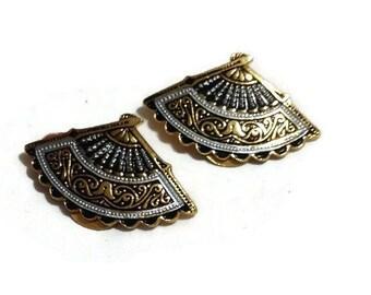 Vintage Fan Earrings from Spain