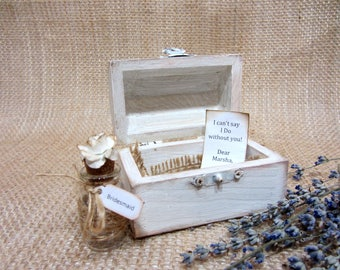 Bridesmaid Proposal Box, Will You Be My Bridesmaid, Message in a Bottle, Bridesmaid Gift Maid of Honor Gift, Message in a bottle invitation