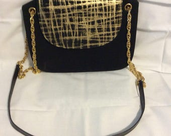 Vintage Maqdesians black and gold bag
