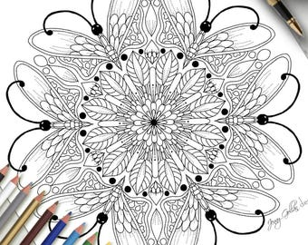Printable Colouring Page Tranquil Wings