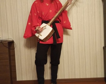 Kubo and the two strings cosplay costume kimono samisen guitar