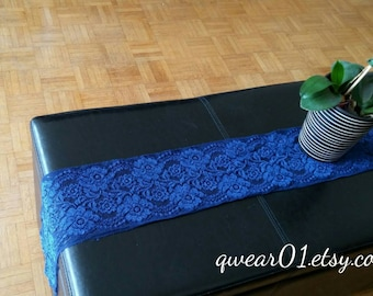 Blue Lace Table Runners - Wedding Table Runners - Lace Table Runners - Blue Table Runners - Lace Overlay - Wedding Decor - Home Decor Runner