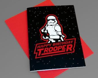 Happy Birthday Trooper / Starwars birthday card/ stormtrooper