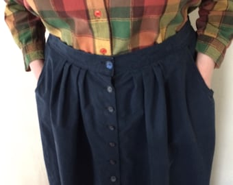 Finished A-line Button Front Skirt