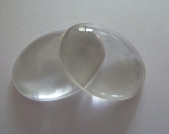 10 x Oval glass dome Cabochons for pendants
