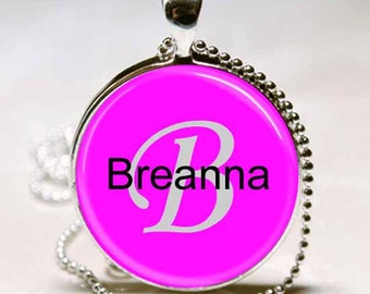 Breanna Name Monogram Handcrafted  Necklace Pendant (NPD0363)