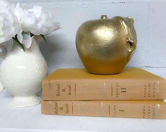 Orange Vintage Decorative Book Set