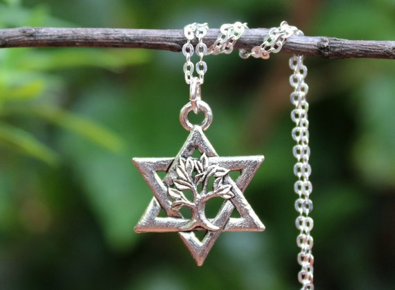 Star of davidee of life pendant necklaceerling silver like this item aloadofball Images