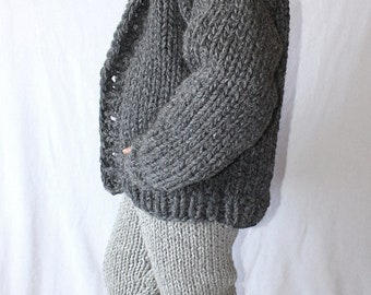 To order !!!  Thick knit iclandic Lopi wool cardigan chunky knit iceland jacket coat for men hand knitted by strickolino