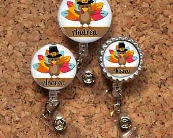 Turkey Badge Reel, Retractable ID Holder, Radiology Lanyard, Badge Pull, Card Holder, Carabiner, Stethoscope Tag, The Badge Patch, Mylar