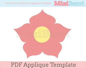 Fancy Flower Applique Template