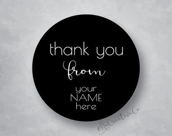 Thank You Stickers, Thank You From, Custom Thank You Stickers, Logo Thank You, Thank You with Your Name, Shop Thank You, Personalized Thanks