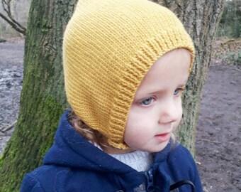 Pixie hat kids, girls hat, boys hat, pixie bonnet, knitted pixie hat, pixie toddler bonnet, girls pixie hat, boys pixie hat, child hat