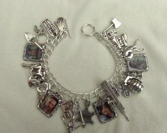 The Walking Dead Loaded Picture Charms Bracelet