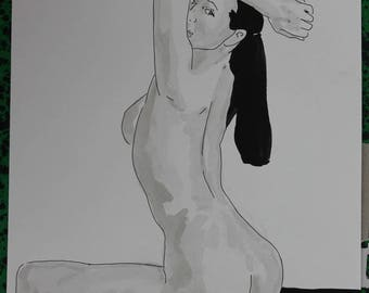 "female nude drawing erotic ""model"""