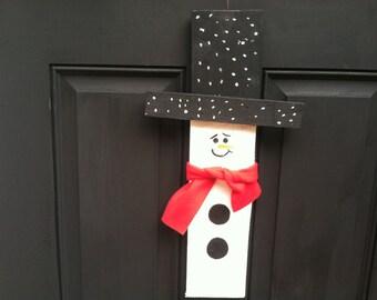 Primitive Snowman, Primitive Christmas Decor, Rustic Christmas Decor, Rustic Christmas Decor, Hanging Snowman, Handmade Snowman