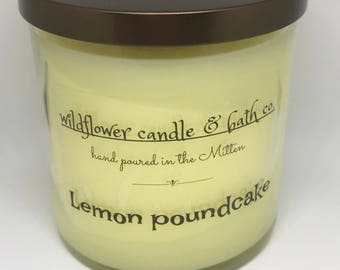 Lemon pound cake scented candle