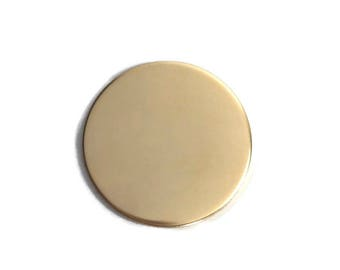 1 1/2 inch 22 Gauge GOLD FILL Round Circle Discs Jewelry Stamping Supplies