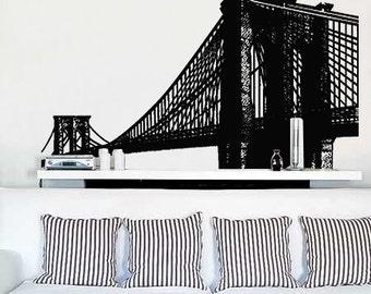 Vinyl Wall Decal Sticker Brooklyn Bridge New York NYC item 149A