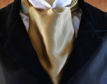 Gold Satin Cravat