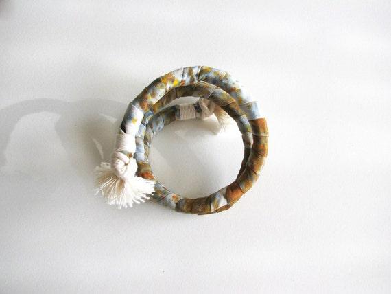 Silk Twist- long, 'Copper Confetti'
