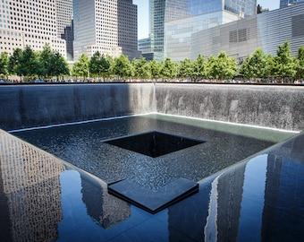 WTC Memorial Photograph - New York City Print - Landscape Print - Financial District, World Trade Center Memorial, Manhattan - 9/11