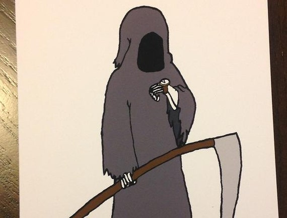 Items similar to funny birthday card grim reaper dark humor on etsy bookmarktalkfo Image collections