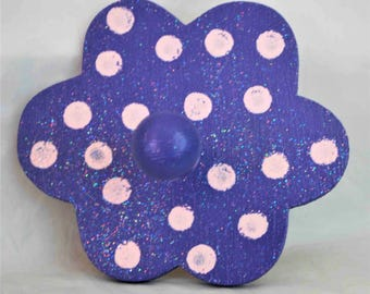 Purple and Pink Flower Peg Wall Hanger