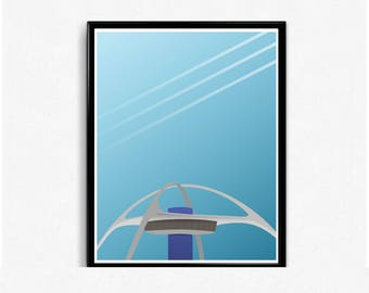 LAX Airport Minimal Print (Los Angeles International Airport)